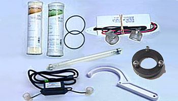 Parts for UV water purifiers